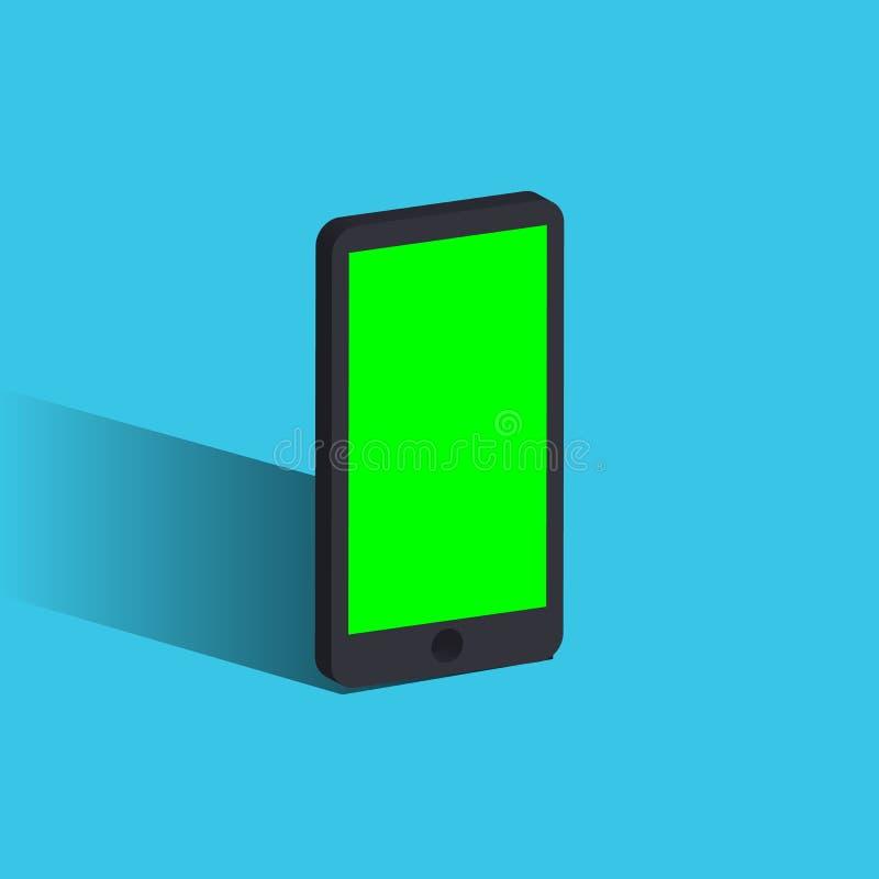 Wektoru 3d realistyczny telefon komórkowy ilustracja wektor