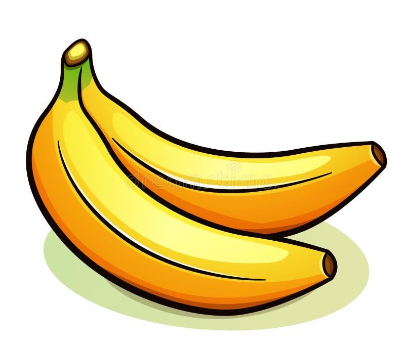 Wektoru dwa bananów żółty projekt royalty ilustracja