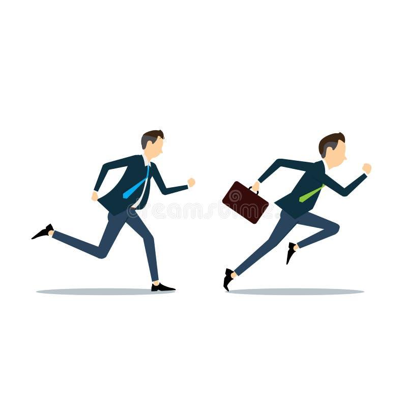 Wektoru dwa biznesowego mężczyzna konkurencyjny biznes ilustracja wektor