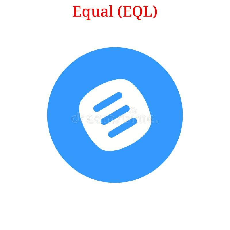 Wektoru EQL Równy logo royalty ilustracja