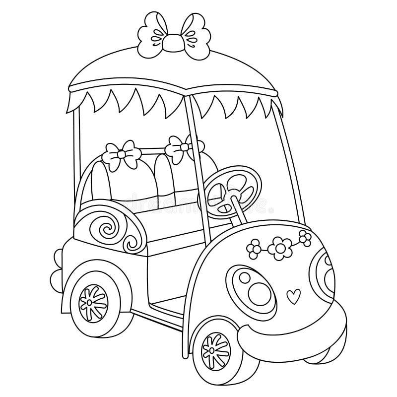 Wektoru Golfowy powozik Wektoru golfowy samochód royalty ilustracja