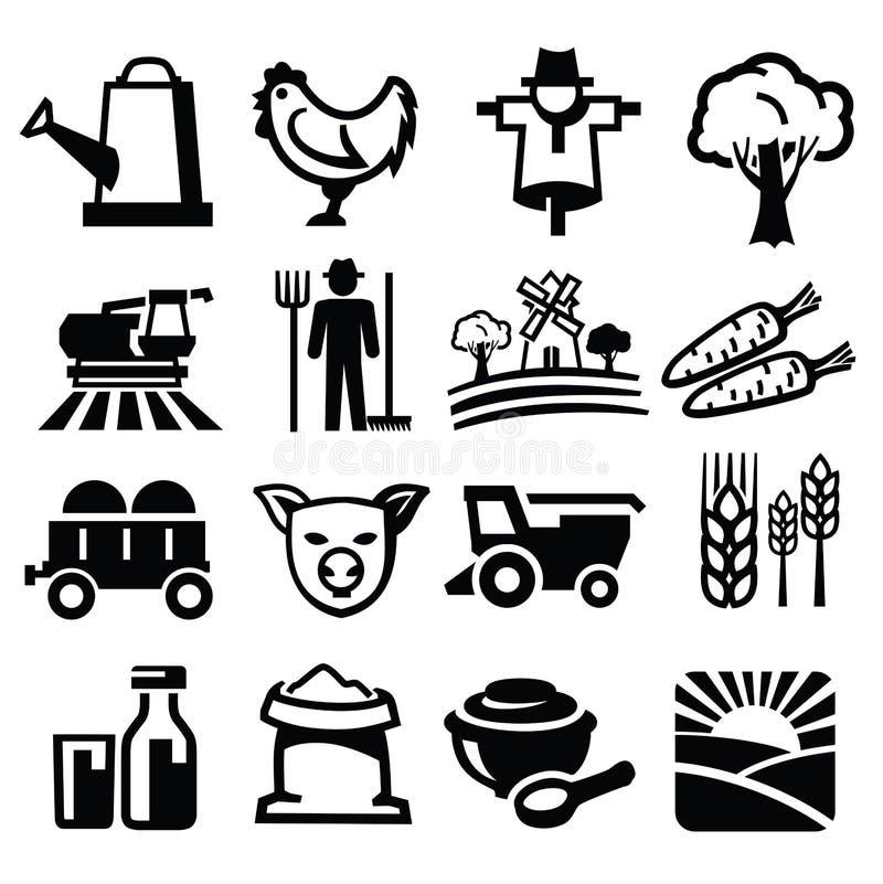 Wektoru gospodarstwo rolne ilustracja wektor