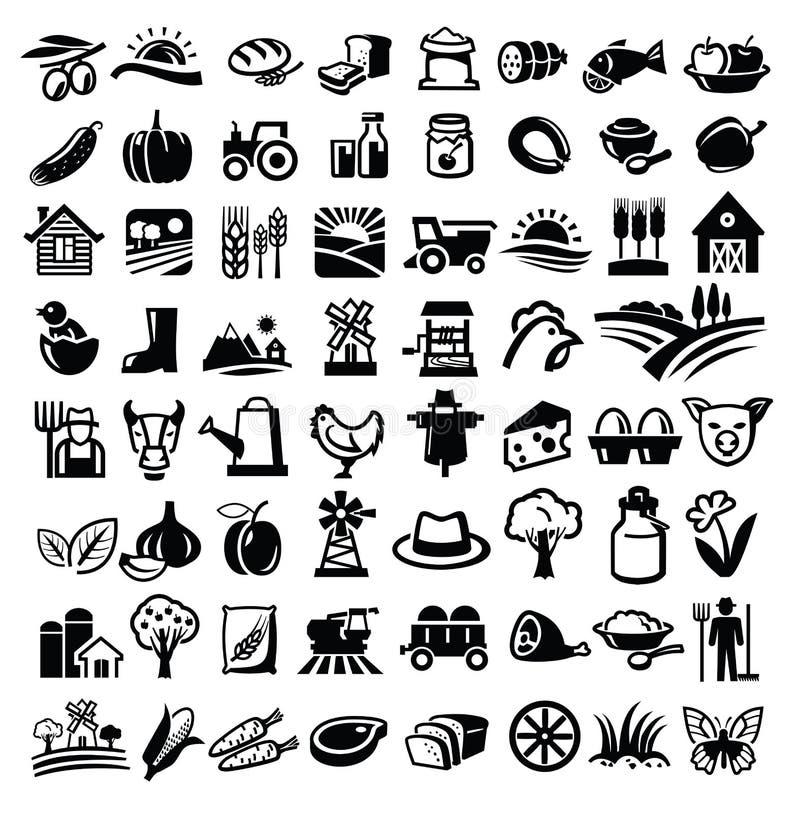 Wektoru gospodarstwo rolne ilustracji