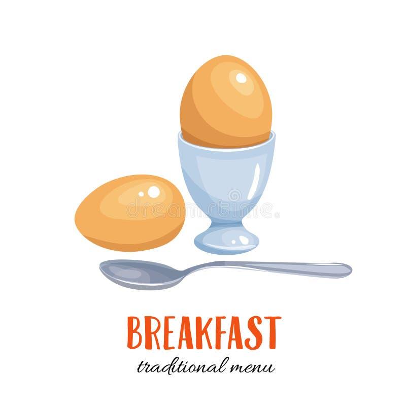 Wektoru gotowany jajko ilustracja wektor