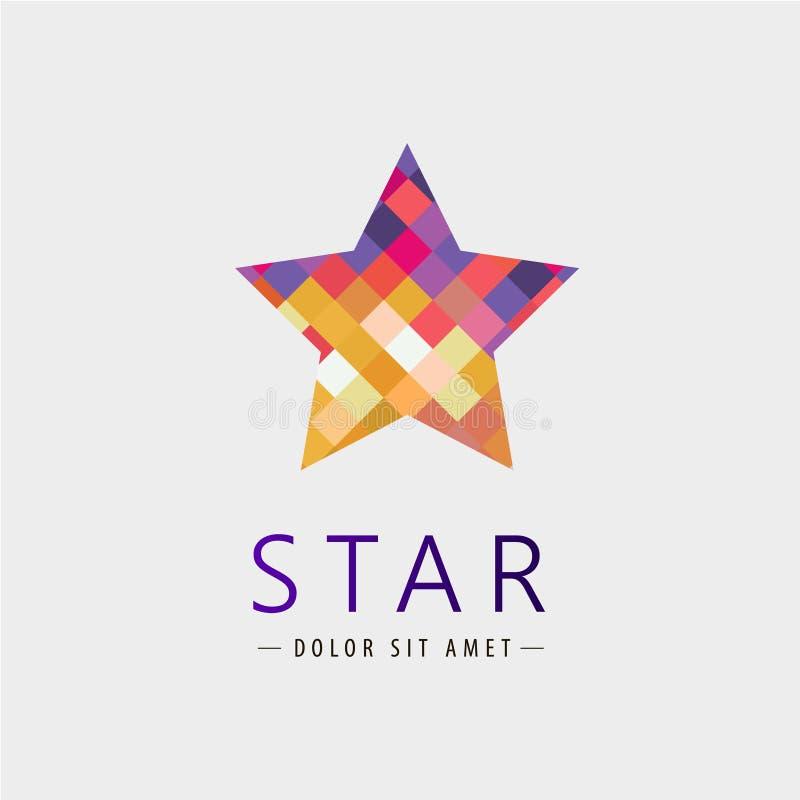 Wektoru gwiazdowy logo, ikona odizolowywająca, tożsamość ilustracja wektor
