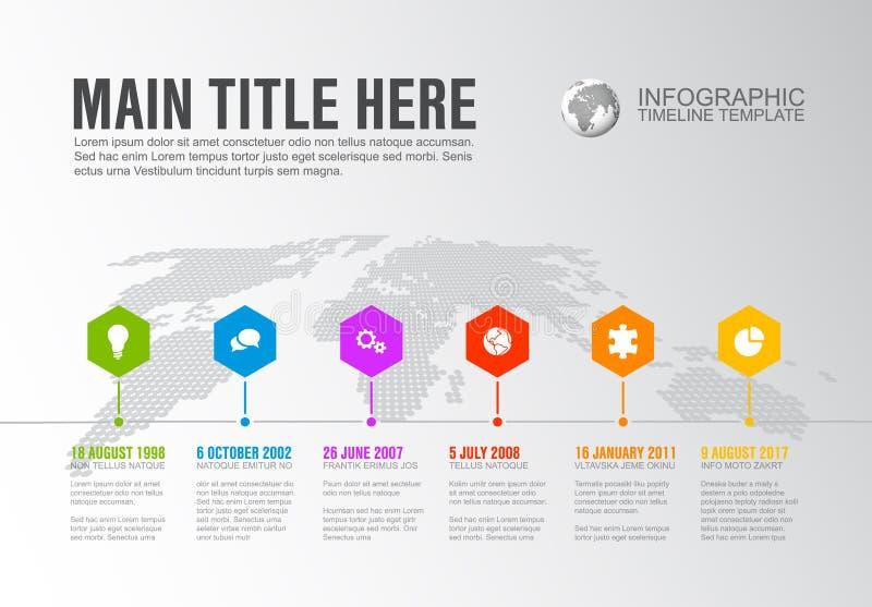 Wektoru Infographic Firma kamieni milowych linii czasu szablon ilustracja wektor