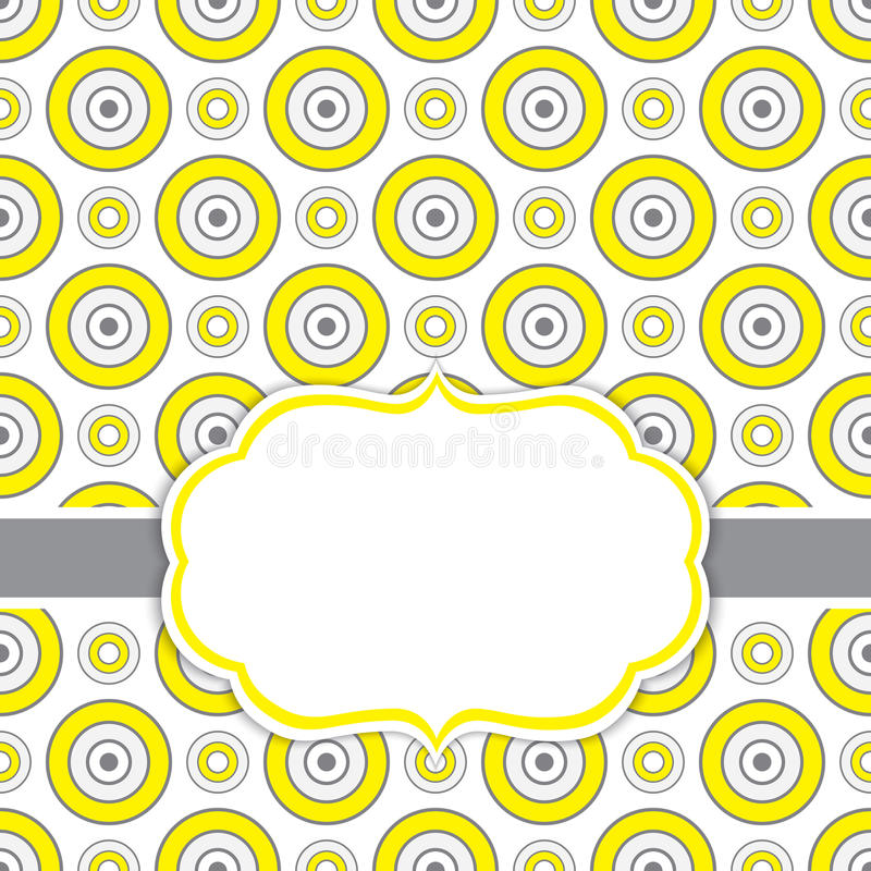 Wektoru Karciany szablon z ramą na Honeycomb tle z przestrzenią dla Twój teksta royalty ilustracja