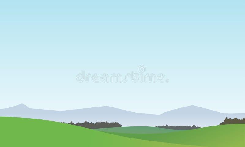 Wektoru Krajobrazowy tło 1 royalty ilustracja