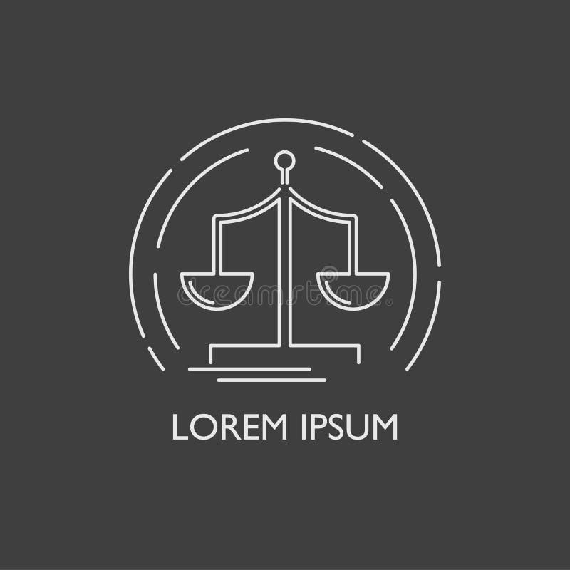 Wektoru libra logo ikony kreskowy płaski tło ilustracji