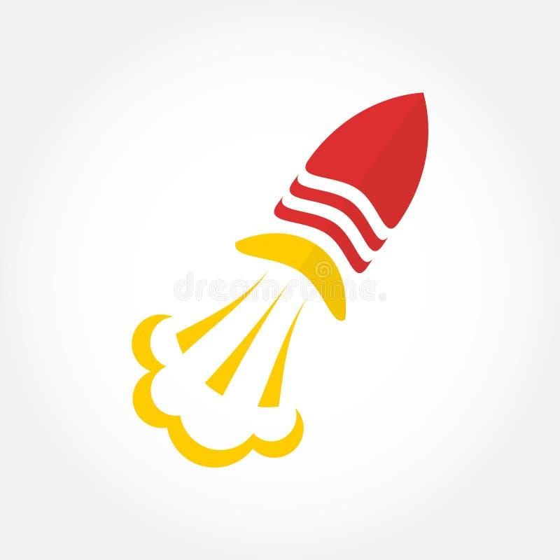 Wektoru loga rakietowy symbol Rakietowa logotyp ikona dla twój biznesu ilustracji