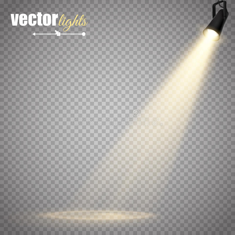 Wektoru Odosobniony światło reflektorów ilustracji