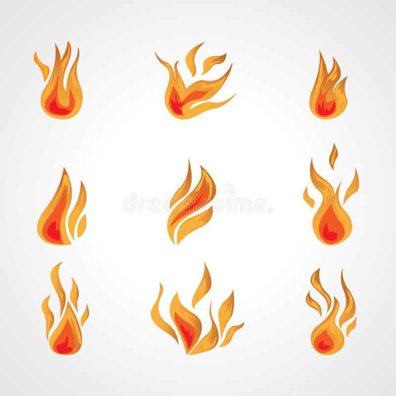 Wektoru ogień ilustracja wektor