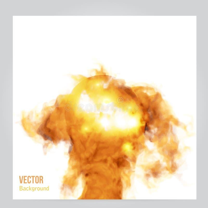 Wektoru ogień Kwiecisty tło z dymem royalty ilustracja