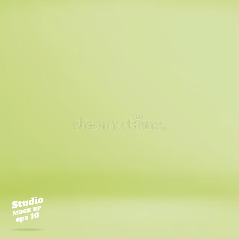 Wektoru pastelu zieleni wapna Pustego koloru pracowniany izbowy tło, Tem royalty ilustracja