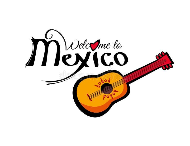 Wektoru powitanie Meksyk szablon royalty ilustracja