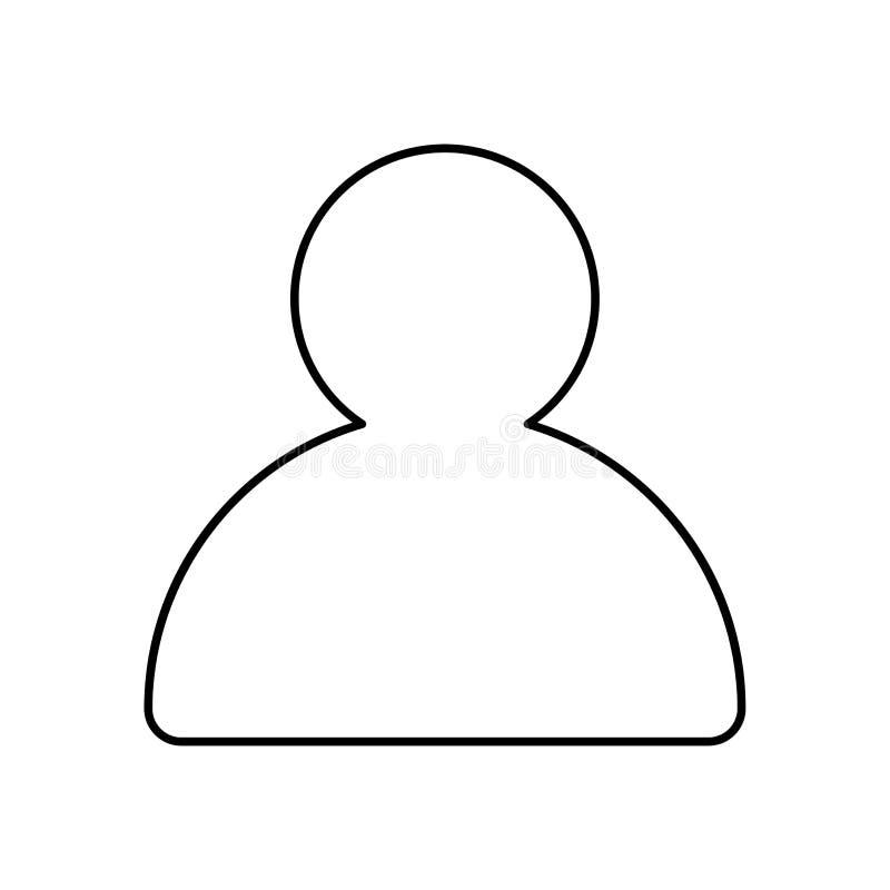 Wektoru profilu konturu ikona Odosobniony wektor wykładająca ilustracja dla sieci lub app projekta royalty ilustracja