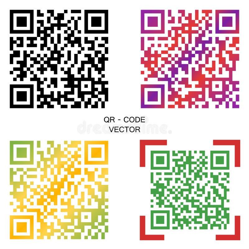 Wektoru QR kod Wybór barwiący kody elementy projektów galerii ikony widzą odwiedzić twój więcej moich piktogramy proszę royalty ilustracja