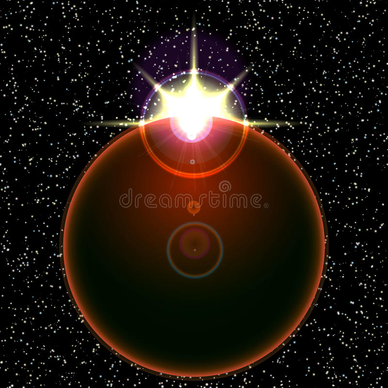 Download Wektoru Słońca I Ziemi Wizerunek Ilustracja Wektor - Ilustracja złożonej z zaćmienie, orbita: 57657853