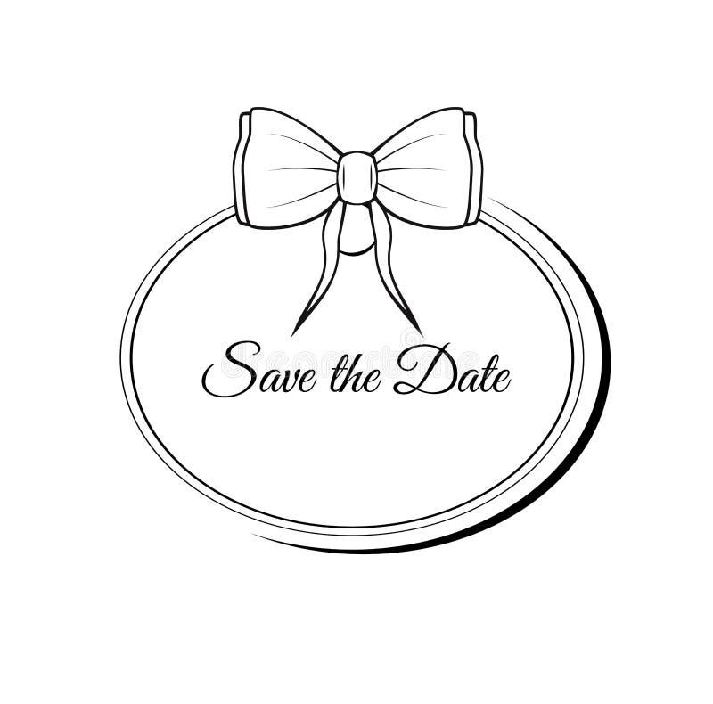 Wektoru Save Daktylowa Ozdobna rama Łatwy redagować tła eleganci serc zaproszenia romantycznego symbolu ciepły ślub royalty ilustracja