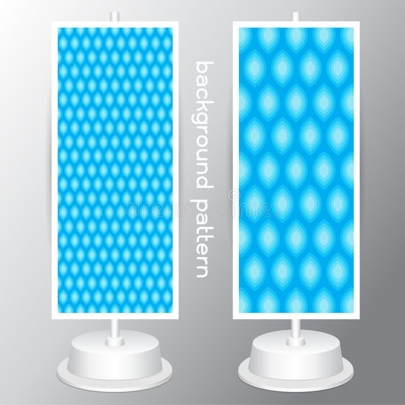 Wektoru setu wzoru błękitny geometrical abstrakcjonistyczny bezszwowy wzór ilustracji