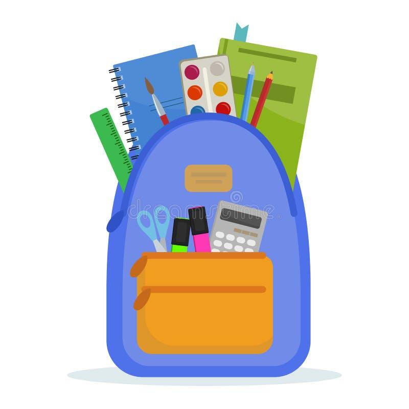 Wektoru szkolny plecak ilustracji