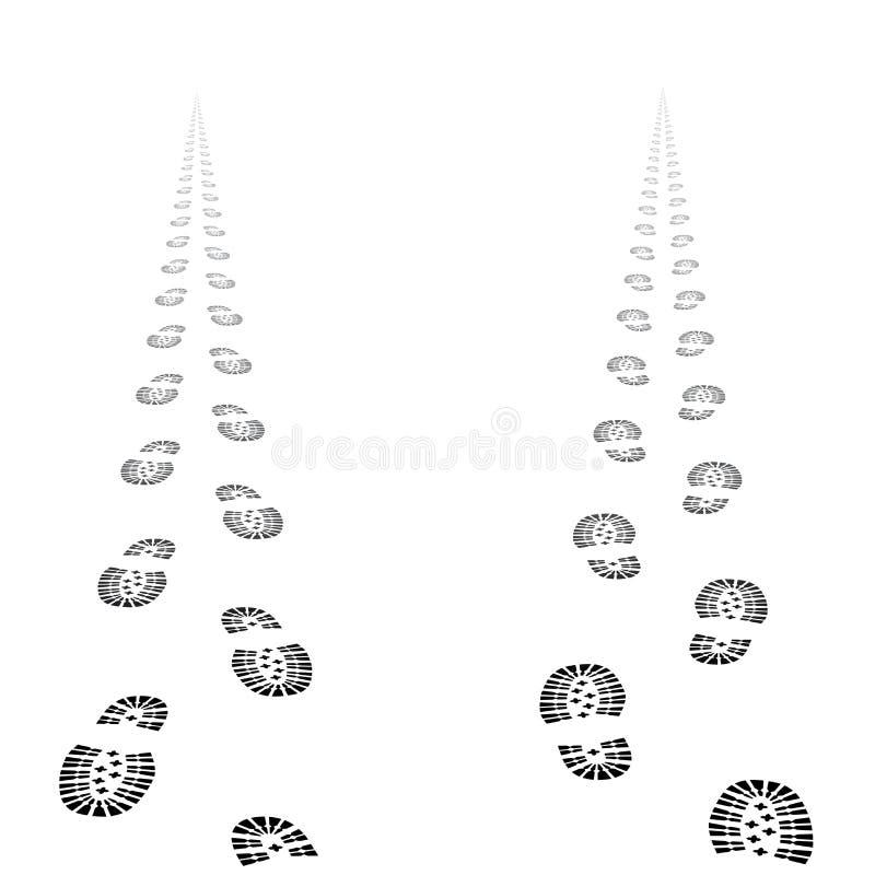 Wektoru but tropi footpaths royalty ilustracja