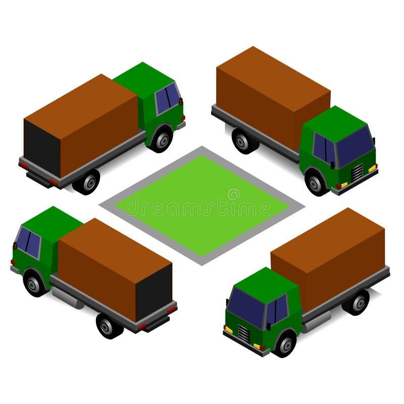 Wektoru viewing ciężarowy isometric poniższy różny kąt ilustracja wektor