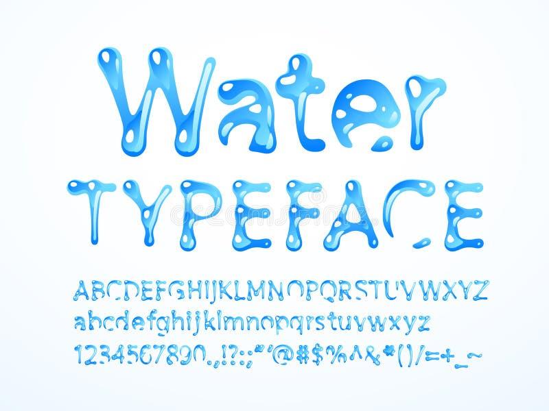 Wektoru wodny typeface ilustracji
