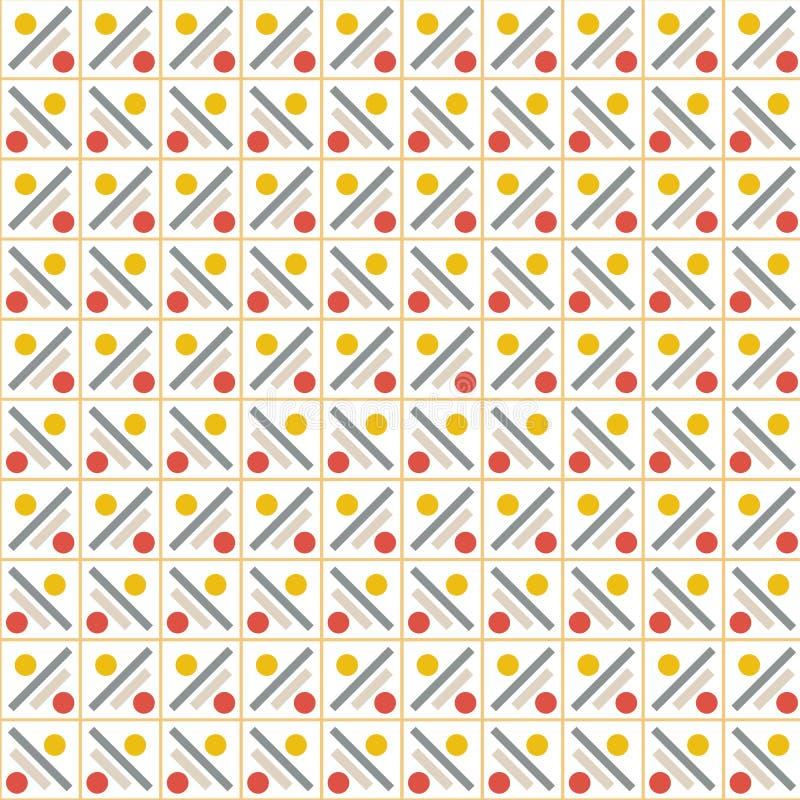 Wektoru wzór - kolorowy bezszwowy geometryczny tło ilustracja wektor