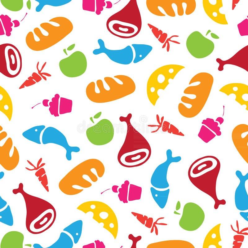 Download Wektoru Wzór Owoc, Warzywa I Jedzenie, Ilustracja Wektor - Ilustracja złożonej z symbol, menu: 53791003