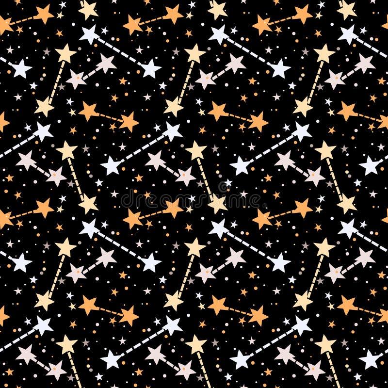 Wektoru wzór z gwiazdami royalty ilustracja
