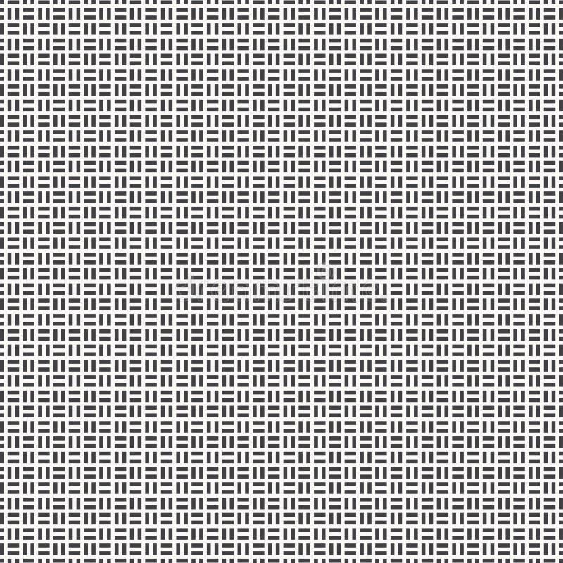Wektoru wzór z parkietowym ornamentem Cegły powlekania podłogowi japończycy eleganccy Prostokąt cegiełek tessellation wizerunek ilustracja wektor