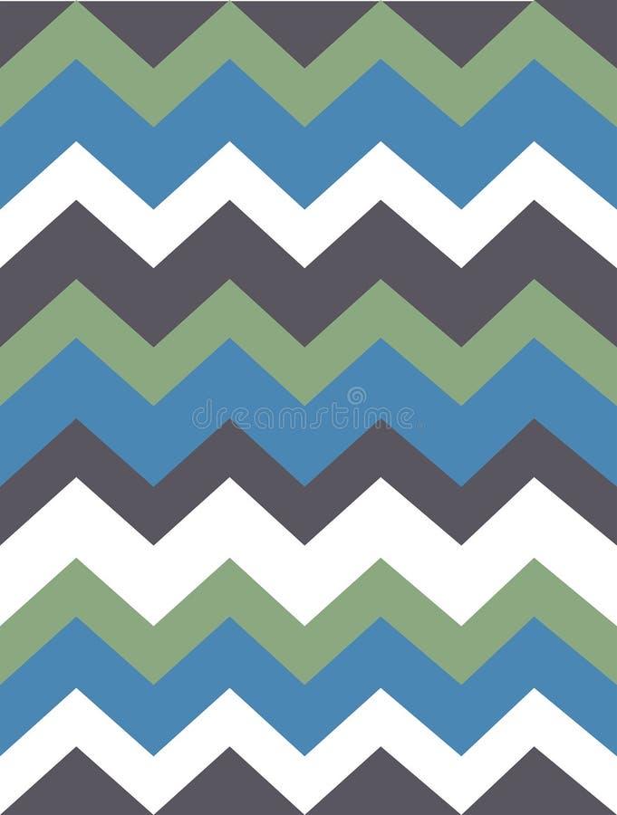 Wektoru wzór z popielatymi, zielonymi, białymi, błękitnymi barwionymi lampasami, zygzag Papier, tekstura, tło royalty ilustracja