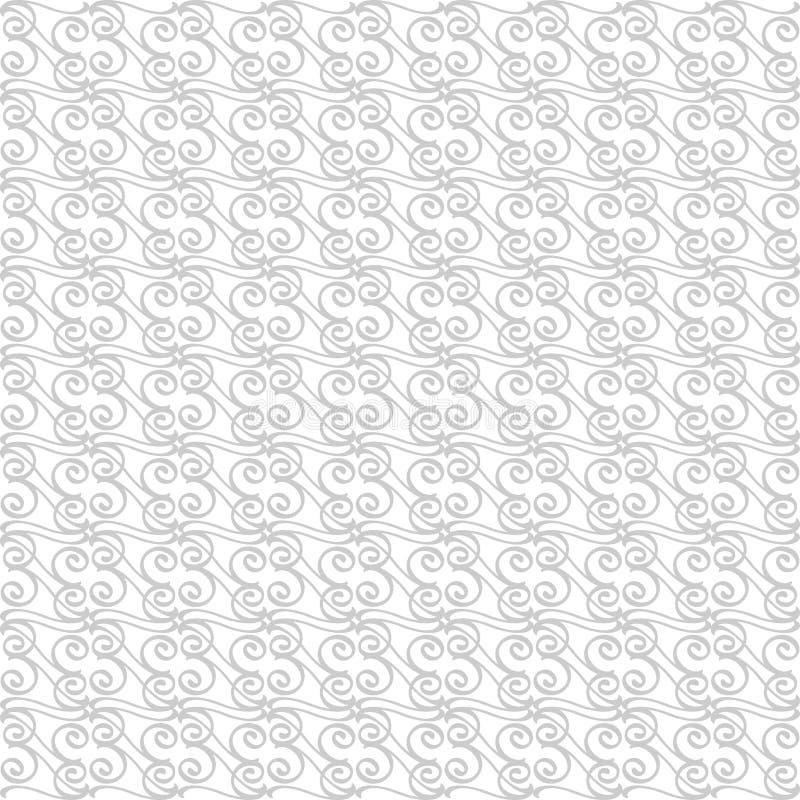 Wektoru wzór z sztuka ornamentem zostaw ilustracja projektów elementów wektora Ornamentacyjny koronkowy maswerku tło Szary biel ilustracja wektor