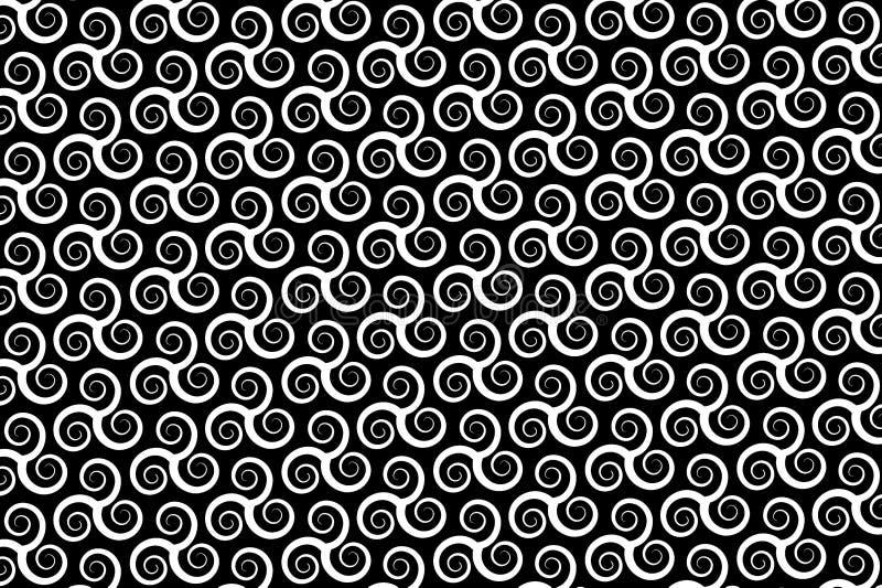 wektoru wzór z wirować trójki Triskele lub spiralę, ilustracji