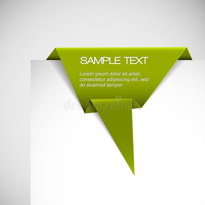 Wektoru Zieleni Papieru origami faborek ilustracja wektor