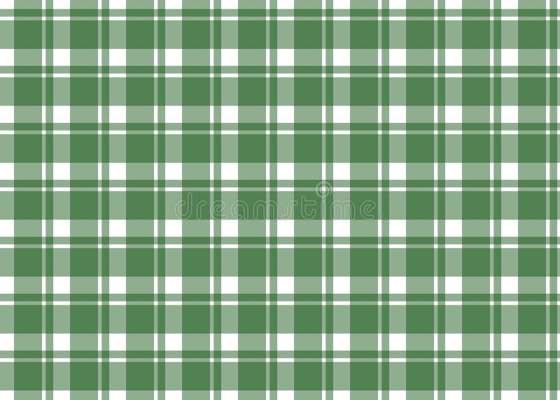 Wektoru zielony bezszwowy wzór dla w kratkę tablecloth ilustracji
