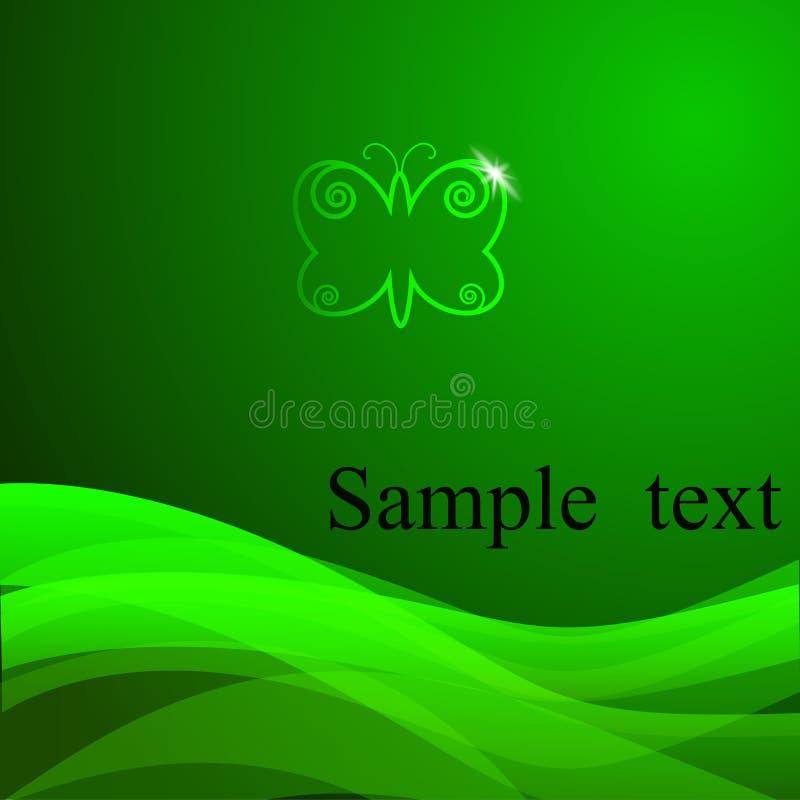 Wektoru zielony tło z próbka tekstem ilustracja wektor
