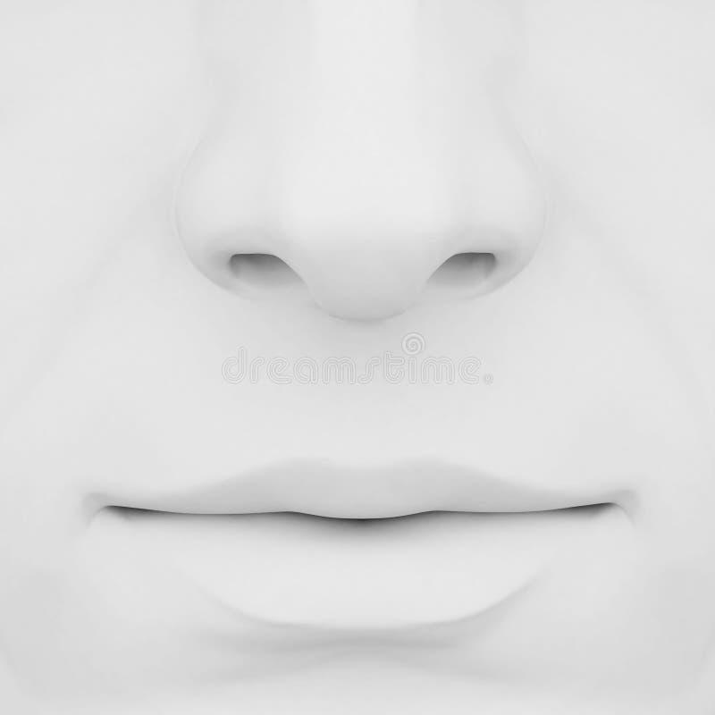 Wekzeugspritze und Lippen 3d lizenzfreie abbildung