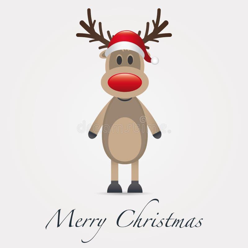 Wekzeugspritzen-Weihnachtsmann-Hut des Rens roter stock abbildung