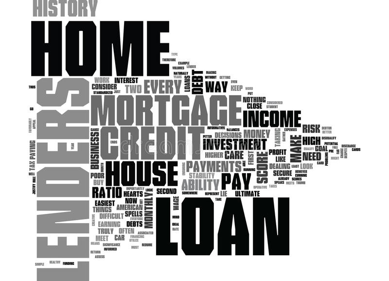 Welche Wohnungsbaudarlehen-Gläubiger herein suchen, seien Sie Hausbesitzer-Wort-Wolke vektor abbildung