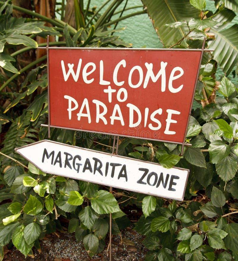 Welcom aan Paradijs royalty-vrije stock foto's
