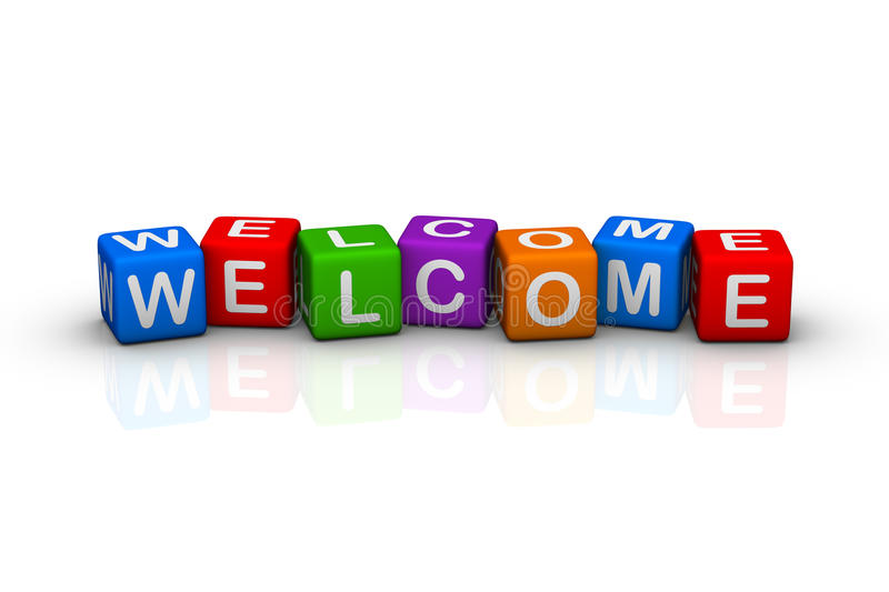 Welcome royalty free illustration