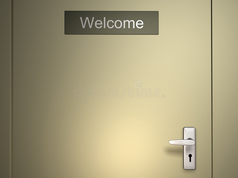 Welcome stock illustration