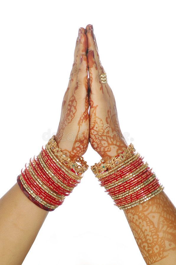 Welcome. Bridal hands welcome to you royalty free stock images