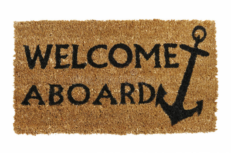 Download Welcome Aboard Mat Stock Photography - Image: 16622412