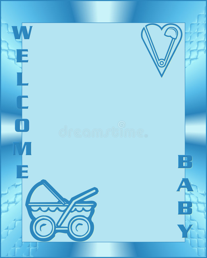 Welcome Baby Boy Royalty Free Stock Photography