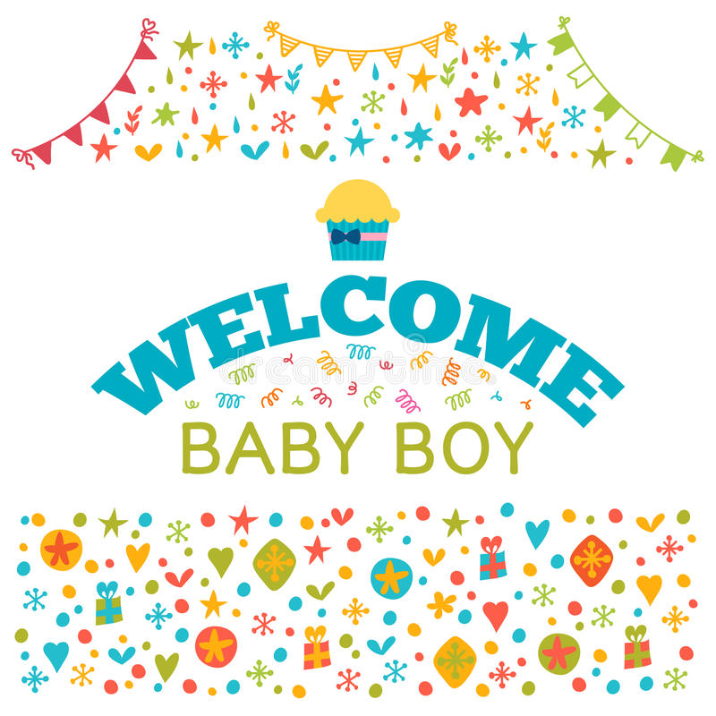 Welcome Baby Boy. Baby Boy Shower Card. Baby Shower Greeting Car ...