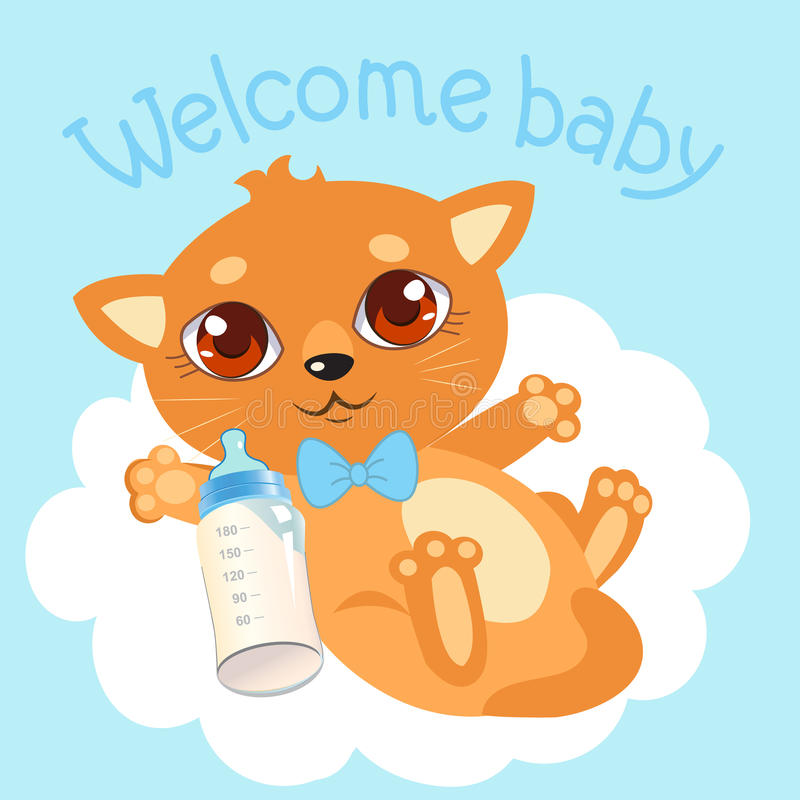 welcome baby boy newborn cat welcome baby invitation Baby Shower Clip Art Backgrounds Baby Shower Clip Art Backgrounds