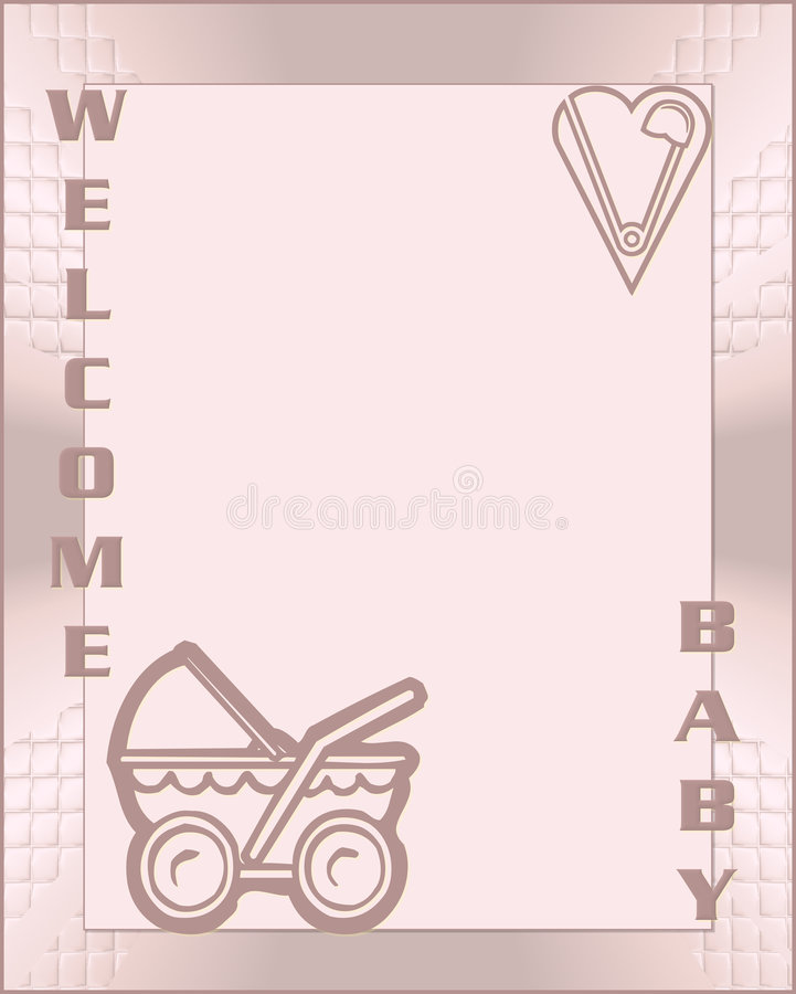 Welcome baby girl royalty free stock photography
